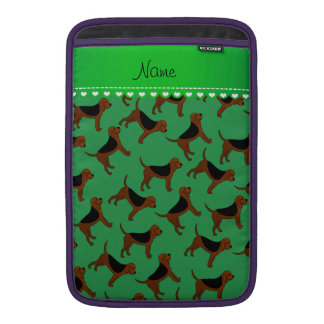 Perros verdes conocidos personalizados del sabueso funda macbook air