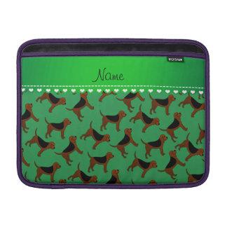 Perros verdes conocidos personalizados del sabueso fundas MacBook