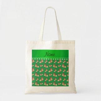 Perros verdes conocidos personalizados del tzu de bolsa tela barata