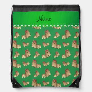 Perros verdes conocidos personalizados del tzu de mochila