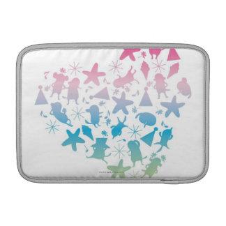 Perros y estrellas coloreados arco iris fundas para macbook air