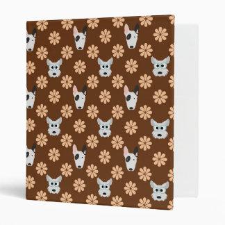 Perros y flores Brown