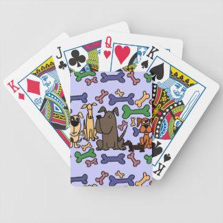 Perros y galletas enrrollados del rescate baraja cartas de poker