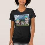 Perros y gato alemanes divertidos camisetas