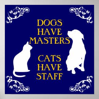 Perros y gatos póster