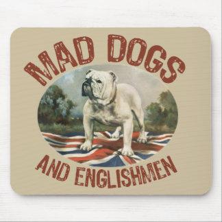 Perros y ingleses enojados tapete de raton