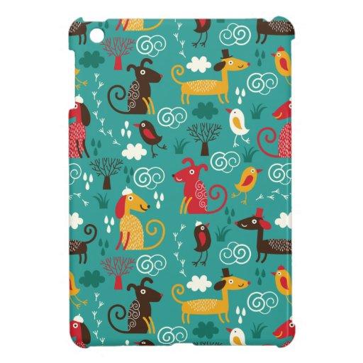 Perros y pájaros iPad mini carcasa