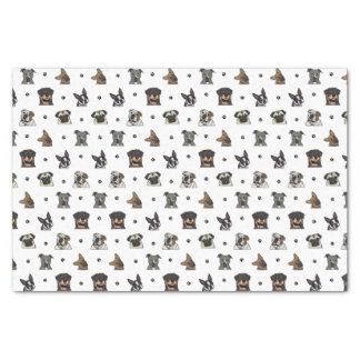 Perros y patas papel de seda pequeño
