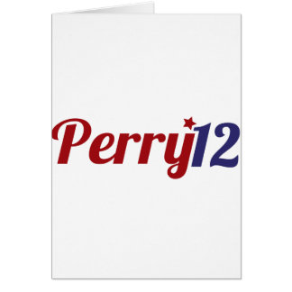 Perry '12 card