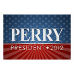 Perry 2012 campaign rally sign poster