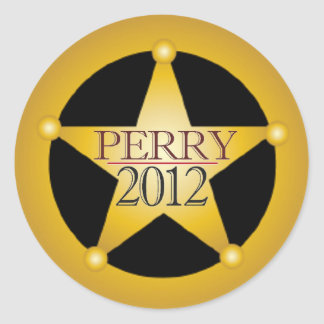 Perry 2012 classic round sticker