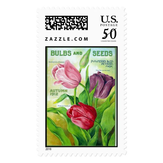 Perry Bulbs and Seeds 1912 Postage