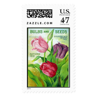 Perry Bulbs and Seeds 1912 Postage Stamp