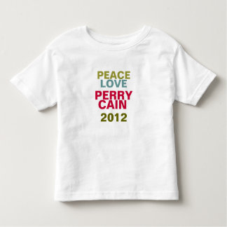 PERRY / CAIN 2012 Peace And Love Toddler's T-Shirt