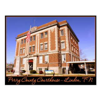 Perry County Courthouse - Linden, TN Postcard