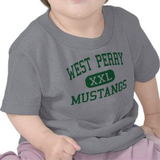 Perry del oeste - mustangos - alto - Elliottsburg Camiseta