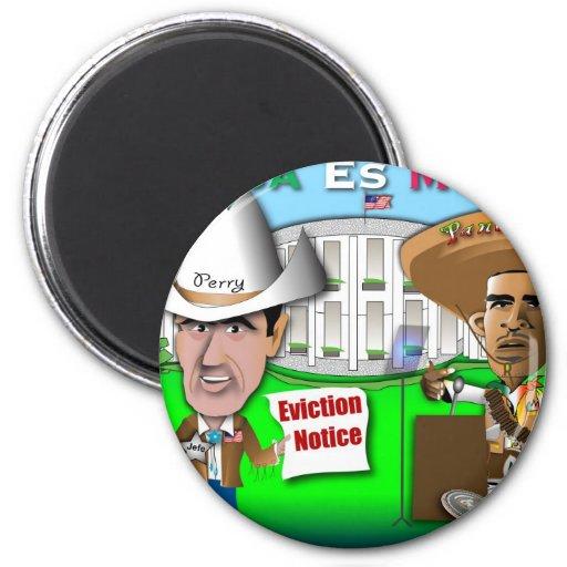 Perry desahucia a Obama Imán Redondo 5 Cm