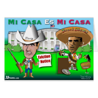 Perry Evicts Obama Card