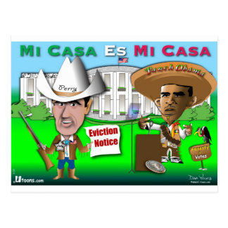 Perry Evicts Obama Postcard