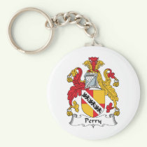Perry Family Crest Keychain