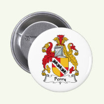 Perry Family Crest Button