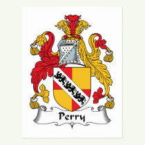 Perry Family Crest Postcard