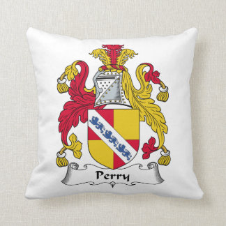 Perry Family Crest Throw Pillows