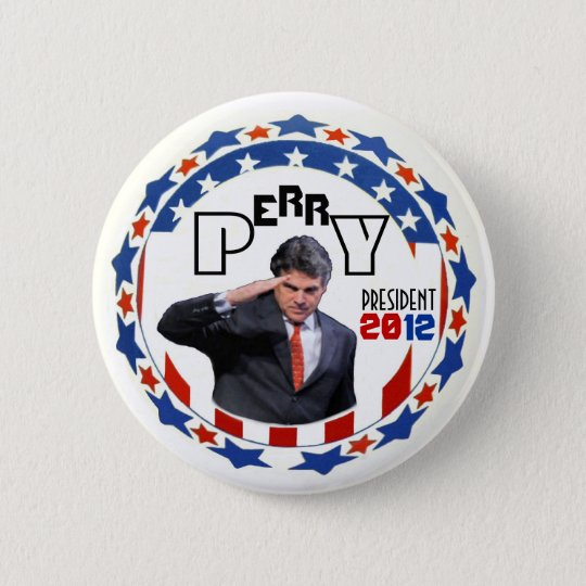 Perry for Prez in 2012 Pinback Button