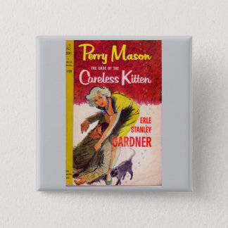 Perry Mason Case of the Careless Kitten book cover Button