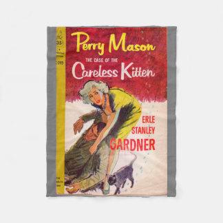 Perry Mason Case of the Careless Kitten book cover Fleece Blanket