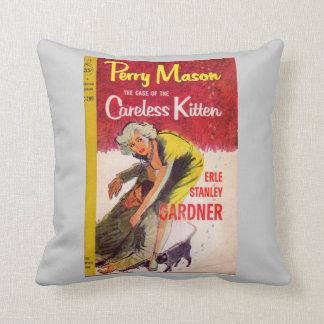 Perry Mason Case of the Careless Kitten book cover Throw Pillow