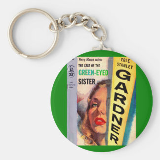 Perry Mason Case of the Green-Eyed Sister Keychain