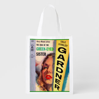 Perry Mason Case of the Green-Eyed Sister Reusable Grocery Bags