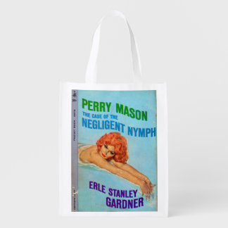 Perry Mason Case of the Negligent Nymph book cover Market Tote