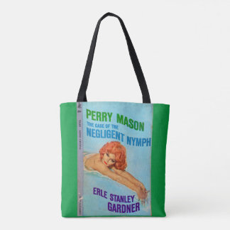 Perry Mason Case of the Negligent Nymph book cover Tote Bag