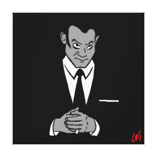 Perry Mason Portrait Stretched Canvas Print