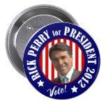 Perry para el presidente 2012 pin
