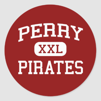 Perry - Pirates - Perry Middle School - Perry Ohio Round Sticker