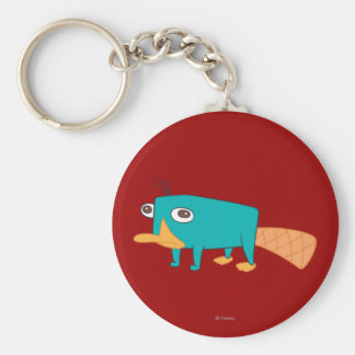 Perry the Platypus Basic Round Button Keychain
