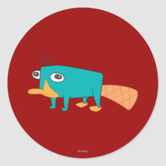 Perry the Platypus Classic Round Sticker