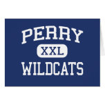 Perry Wildcats Middle School Miramar Florida Greeting Card