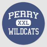 Perry Wildcats Middle School Miramar Florida Round Stickers