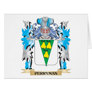 Perryman Coat of Arms - Family Crest Large Greeting Card