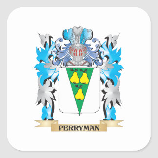 Perryman Coat of Arms - Family Crest Square Sticker