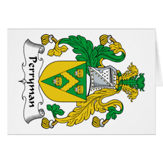 Perryman Family Crest Greeting Card