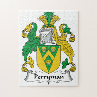 Perryman Family Crest Jigsaw Puzzle