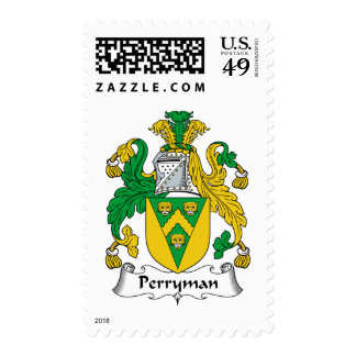 Perryman Family Crest Postage Stamp