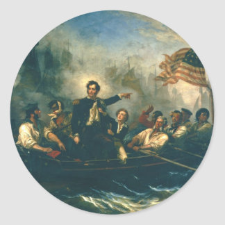 Perry's Victory by William Powell from 1865 Classic Round Sticker