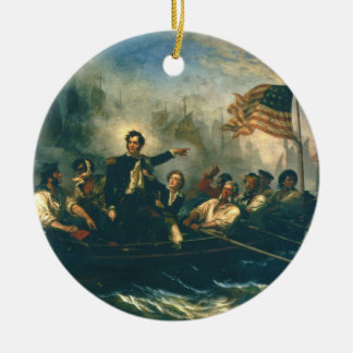 Perry's Victory by William Powell from 1865 Double-Sided Ceramic Round Christmas Ornament