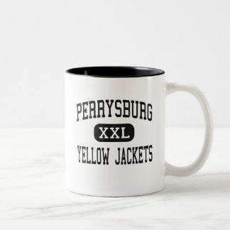 Perrysburg - chaquetas amarillas - alto - taza de dos tonos